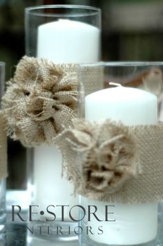 Burlap Rosette Flower Tutorial by Restore Interiors