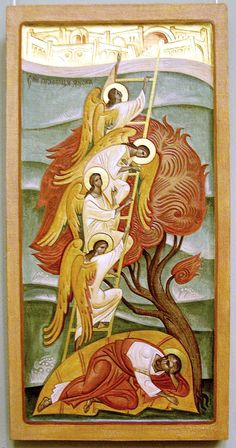 An Icon of Saint Jacob's Ladder: