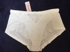 M&S PER UNA SHORTS Beautiful Lace trim knickers UK18 XXL BNWT RRP£7.50 Cool Comf
