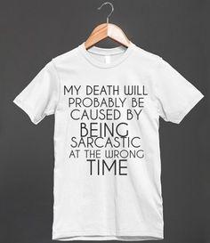 1b4cadab1 SARCASTIC DEATH - glamfoxx.com - Skreened T-shirts, Organic Shirts, Hoodies