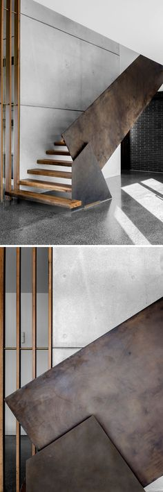 Home Decorating Ideas Modern An industrial modern steel and wood staircase that leads to the second floor of Staircase Ideas Decorating floor Home Ideas Industrial leads Modern Staircase steel wood Industrial Interior Design, Industrial House, Industrial Interiors, Industrial Furniture, Industrial Chic, Industrial Stairs, Industrial Closet, Industrial Windows, White Industrial