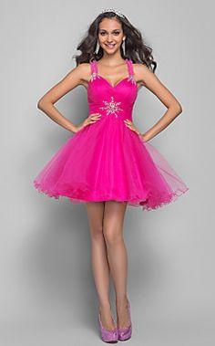 A-line Princess Straps Short/Mini Tulle Coktail Dress (63591... – USD $ 149.99