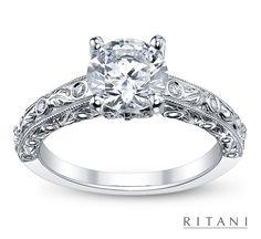 vintage wedding rings | Vintage Ritani Diamond Engagement Ring (sku 0376460)