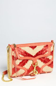 Rebecca Minkoff 'Bombe MAC' Straw Crossbody Bag