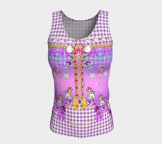 Cute Poodles and Lambs Mauve Gingham Whimsical Long Fitted Tank Top, Yoga Top, W. Vintage Moon, Slip Skirts, Yoga Tops, Lambs, Poodles, Black White Stripes, Workout Wear, Dance Wear, Mauve