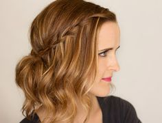 Hair and Make-up by Steph: Video Tutorial - Waterfall Braid Updo