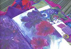 Exercise from Julia Caprara's book Exploring Colour - gathering a palette Color Studies, Fabric Art, Textile Art, Exploring, Palette, Textiles, Exercise, Journal, Colour