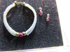 Dollhouse Miniature 1:12 Scale Artisan Anna Mae Double String Bead Necklace