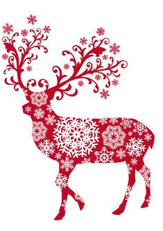 This is a great red and white theme for a holiday party