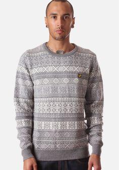 Lyle & Scott Fair Isle Men's Sweater Mid Greymarl #DiffusionNewArrivals