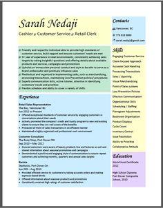 retail store manager resume creative resume design