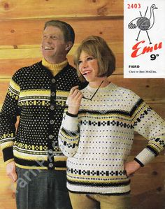 Fiord Fair Isle Sweater and Cardigan for Men and Woman pattern available on ETSY in the shop called YarnPassionDesigns