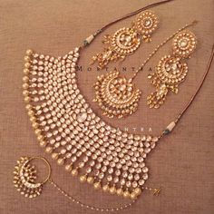 Beautiful Jarkan Red Traditional Bollywood Statement Wedding Bridal Necklace Set Genuine Skillful Manufacture Jewelry Sets Jewelry & Watches