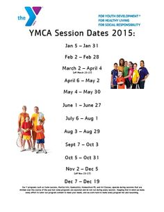 2015 Session Dates