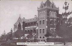 Sanatorium Jeppestown postal cancellation Johannesburg 10.5.1920 Historical Pictures, Mud, South Africa, Landscape Photography, Maine, History, Architecture, Places, Travel