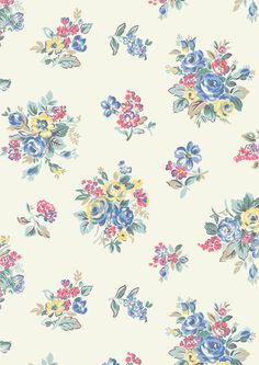 Highgate Rose | Highgate Rose is the star of our new china collection. This pretty rose bunch design has an unexpected, but beautiful, cool blue-tinged colour scheme | Cath Kidston SS16  |