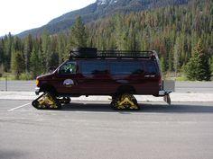 tracked van - the ultimate Winter Adventure basecamp Custom Vans For Sale, Custom Cars, 4x4 Trucks, Ford Trucks, Ambulance, Off Road Camping, Automobile, 4x4 Van, Vanz