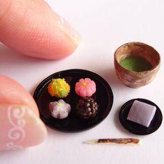 miniature Japanese dessert