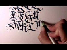 Parallel Pen Calligraphy - Upper Case Blackletter - YouTube