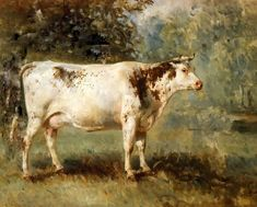 vintage cows painting | really like this one, it is similar to the one I use to have. Just ...