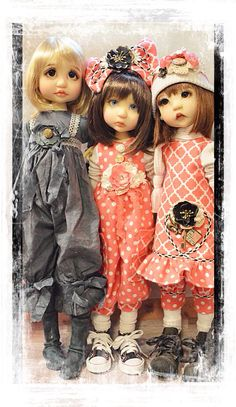 Rue, Jessie and LeeLee BJD Dolls by Tracy P.