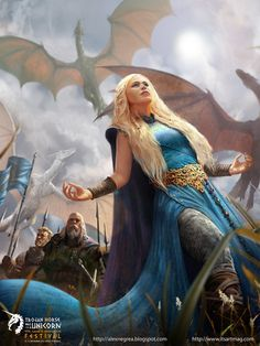 A Song Of Ice And Fire - Mother of Dragons -fanart by *alexnegrea on deviantART