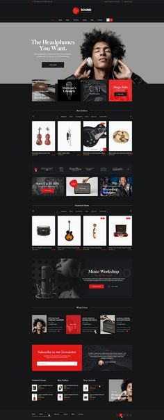 ThemeREX is happy to present its new WooCommerce theme – Sound. It's a premium quality theme specially designed for online music stores, stores of musical instruments, recording studios, DJ's or any other eCommerce site.