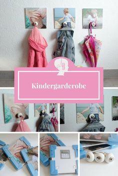 DIY: Kindergardeobe selber machen / ganz individuell gestaltet mit Fotos eurer Kleinen - Schritt-für-Schritt Anleitung zur kleinen Garderobe für eure Kinder / Heimwerken für die Kleinen
