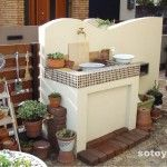 ガーデンシンク Garden Sink, Porches, Cafe Style, Outdoor Fun, Tiny House, Fountain, House Design, Interior Design, Sinks