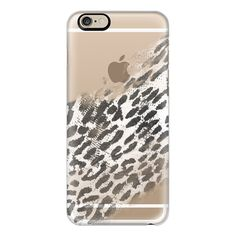 iPhone 6 Plus/6/5/5s/5c Case - Black and White Leopard Animal Print... ($40) ❤ liked on Polyvore featuring accessories, tech accessories, iphone case, apple iphone cases, slim iphone case, iphone cover case and leopard print iphone case