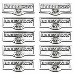 10 Switchplate Chrome Over Brass BREEZEWAY Switch Tag Chrome 1 11/16 in.