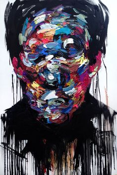 [197] untitled oil on canvas 193.9 x 112.1 cm 2013 by KwangHo Shin, via Behance