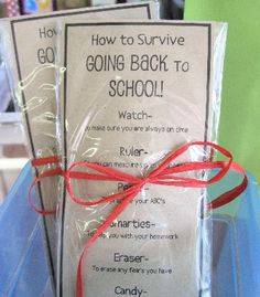Great idea for either back to school or FCCLA members as well.