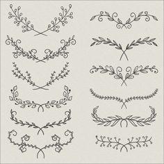 Flower ornaments free vector ornaments # give DIY tattoo – diy best tattoo diy best tattoo – diy best tattoo ideas – floral tattoo sleeve Diy Tattoo, Wrist Tattoo, Arm Tattoo Ideas, Tummy Tattoo, Tattoo Arrow, Tatuagem Diy, Tattoo Style, Tattoo Zeichnungen, Wreath Drawing