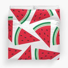 """Watermelon"" Duvet Cover http://www.redbubble.com/people/angeflange/works/12751780-watermelon?p=duvet-cover"