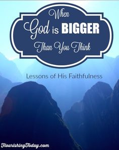 Do you ever limit God when it comes to your dreams? Many times we think we have to make our dreams come to pass in our own strength. But God is bigger than we think!