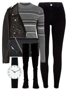 """Untitled #6654"" by laurenmboot ❤ liked on Polyvore featuring River Island, Topshop, Jakke, Yves Saint Laurent, Stuart Weitzman and Rosendahl"