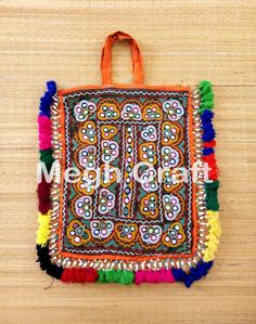 Designer Kutch Hand Embroidered Mirror work Theli Bag-Indian Traditional Theli