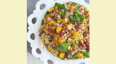 This warm salad is packed with protein and nutrients- perfect for cold, wintery days