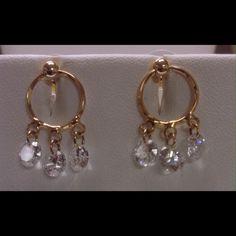 Beautiful Earrings Zirconia 18k Gold Plated High quality Jewelry Earrings