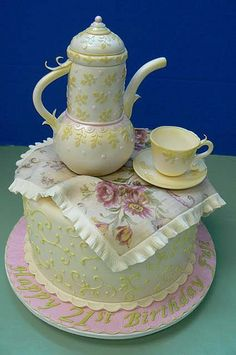 Tea time; adultbirthday; Cake by: Make Me A Cake