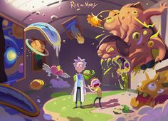 ArtStation - rick and morty, terry wei