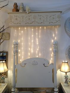 wonderful behind the headboard idea, especially for a little girl
