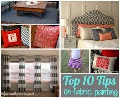 very helpful tips for painting fabric