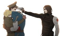 Bucky and Winter Soldier? First I thought it was hydra thing but no. Avengers Comics, The Avengers, Marvel Memes, Bucky Barnes, Captain America And Bucky, Winter Soldier Bucky, Bucky And Steve, Marvel Fan Art, Mundo Comic