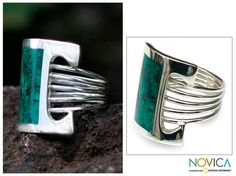 <ul><li>Chrysocolla cocktail ring</li><li>Silver jewelry</li><li><a href='http://www.overstock.com/downloads/pdf/2010_RingSizing.pdf'><span class='links'>Click here for ring sizing guide</span></a></li></ul>