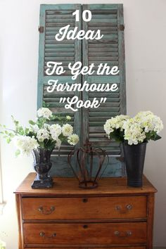 10 Inexpensive Ways to Decorate and get the Fixer Upper Farmhouse Look - Vintage American Home Decor, Home Projects, French Country Decorating, Farmhouse Decor, Country Decor, Farmhouse, Home Decor, Farmhouse Style, Rustic House