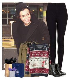 """""""Christmas shopping with Harry"""" by sychie ❤ liked on Polyvore featuring Topshop and Monsoon"""