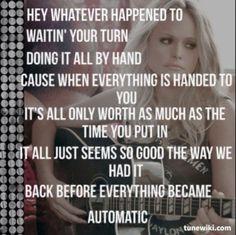 """""""Automatic""""- Miranda Lambert"""