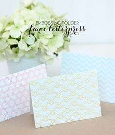 Embossing Folder Letterpress - damask love